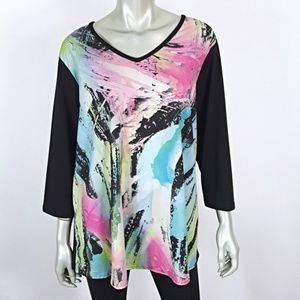 Avenue Plus Size 18 20 3/4 Sleeve Pullover Top